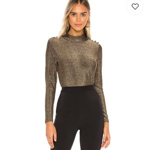 Revolve Heartloom Scot Top in Bronze - NWT